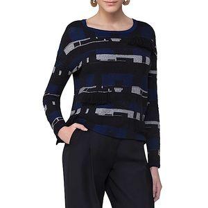 Akris Punto Fringed Jacquard Knit Sweater